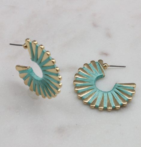 A photo of the Wound Up Earrings In Mint product