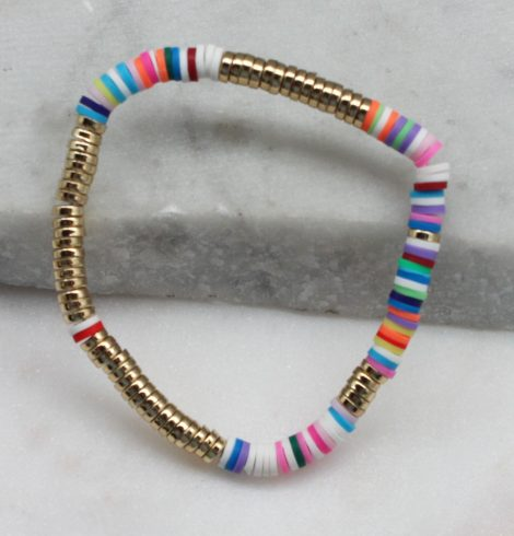 A photo of the Multi Colored Beaded Bracelet product
