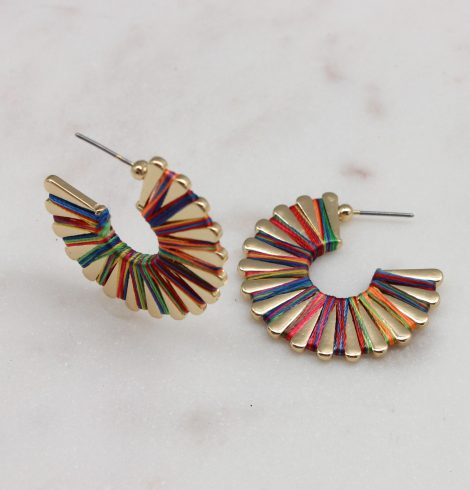 A photo of the Wound Up Earrings In Multi product