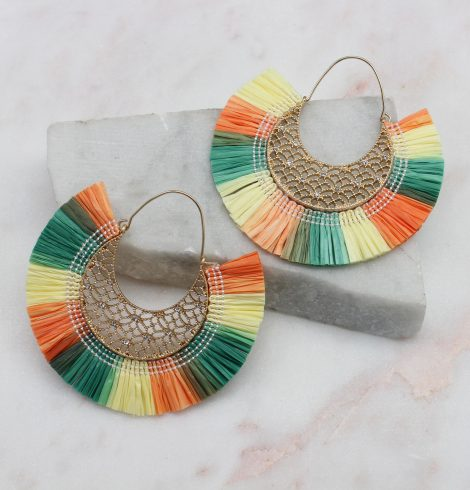 A photo of the Summer Breeze Earrings In Multi product