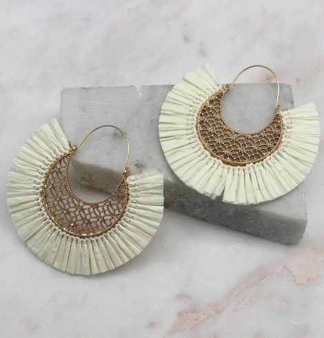A photo of the Summer Breeze Earrings In Ivory product