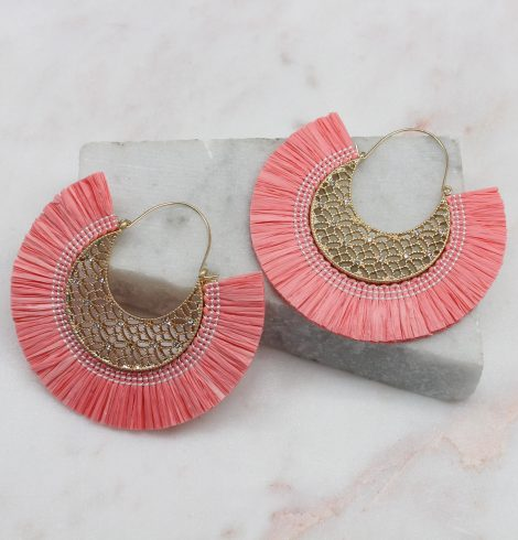A photo of the Summer Breeze Earrings In Pink product