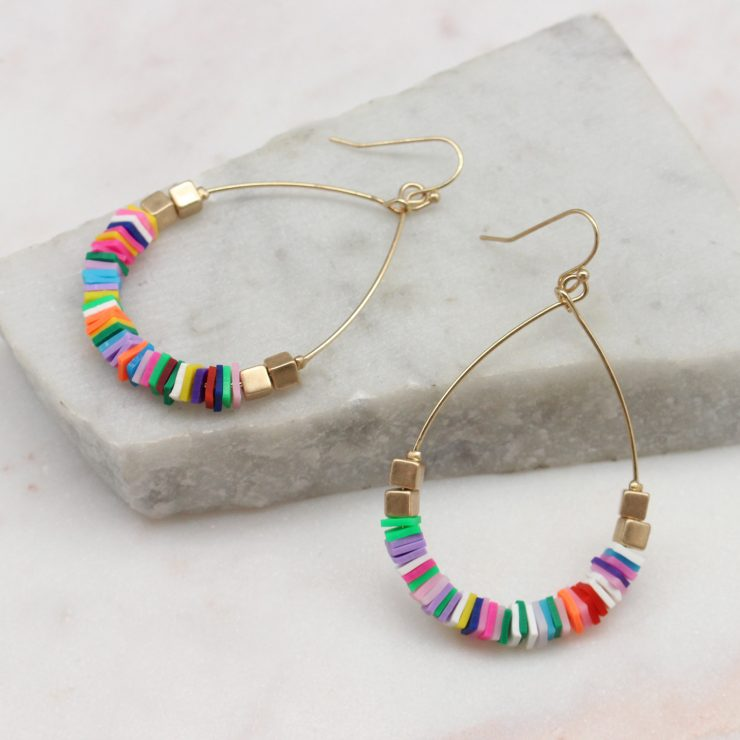 A photo of the Summertime Earrings In Multi Color product