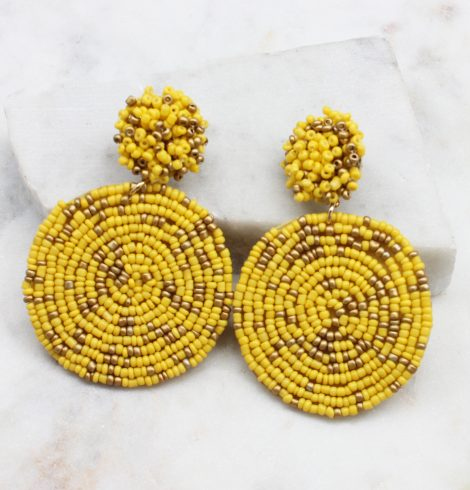 A photo of the Lizzy Earrings In Yellow & Gold product