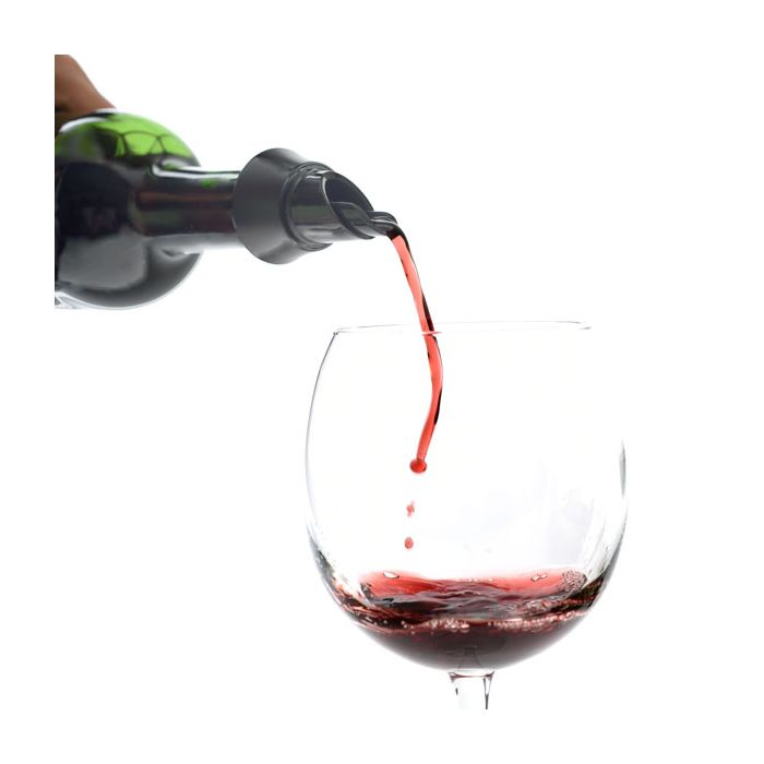 A photo of the No Drip Wine Pourer/Stopper product