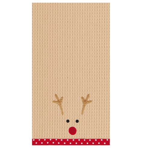 A photo of the Reindeer Kitchen Towel product