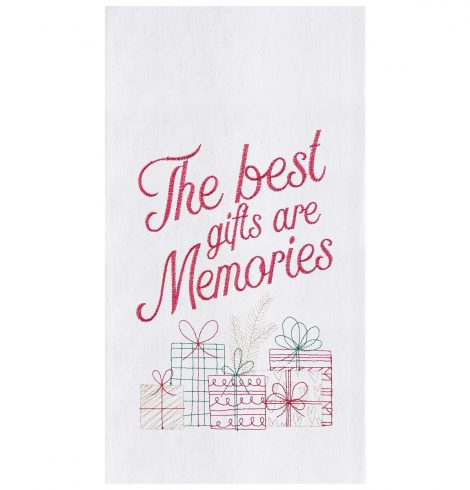 A photo of the Gifts Are Memories Kitchen Towel product