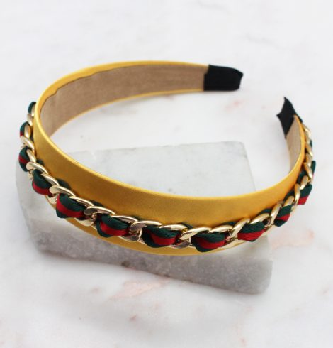 A photo of the Chain Headband In Yellow product