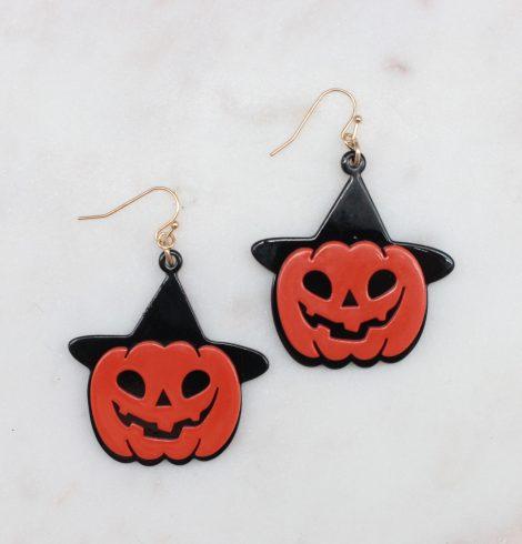 A photo of the Jack-O-Lantern Earrings product