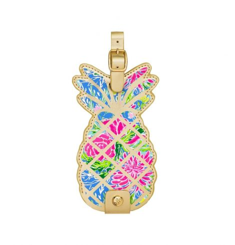 A photo of the Lilly Pulitzer Luggage Tag In Bunny Business product