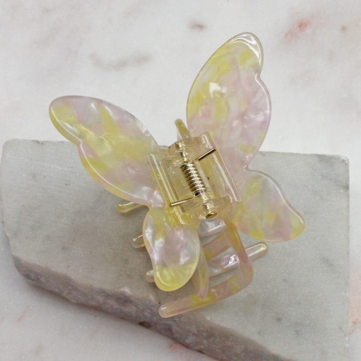 A photo of the Pink & Yellow Butterfly Clip product