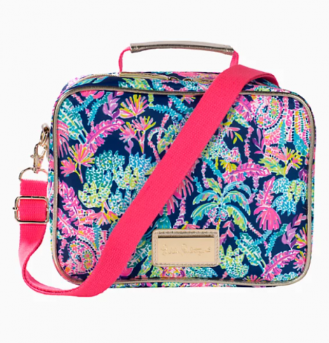 A photo of the Lilly Pulitzer Insulated Lunch Box In Seen and Herd product