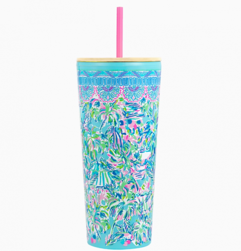 A photo of the Lilly Pulitzer Tumbler In Cabana Cocktail product