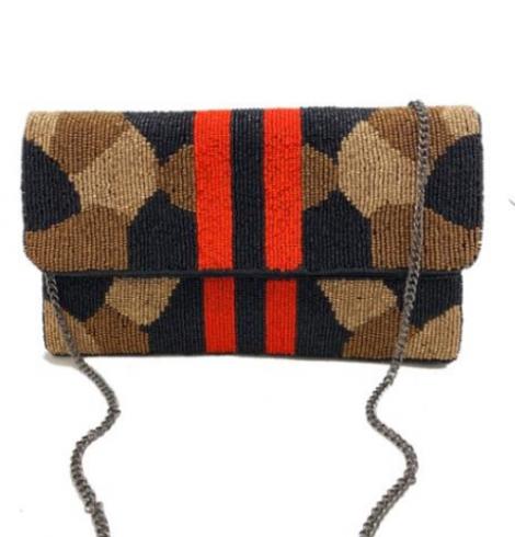 A photo of the Jade Beaded Handbag product