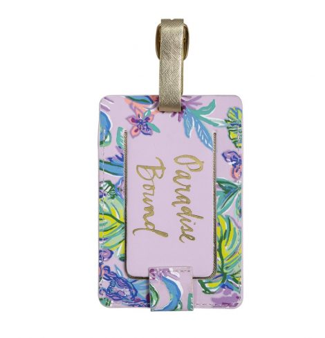 A photo of the Lilly Pulitzer Luggage Tag In Mermaid in the Shade product
