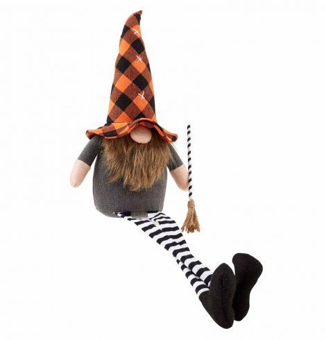 A photo of the Orange & Black Buffalo Check Gnome product