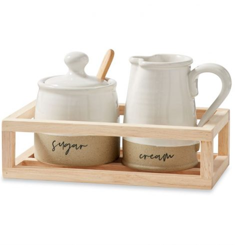 A photo of the Stoneware Cream & Sugar product