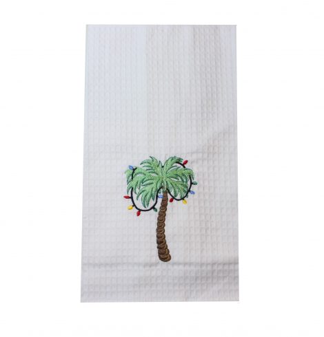 A photo of the Christmas Palm Kitchen Towel product