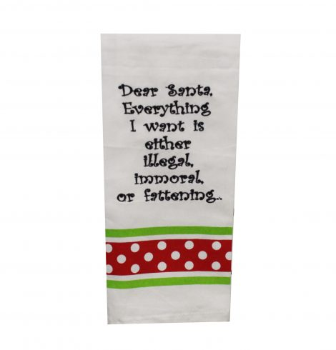A photo of the Dear Santa Kitchen Towel product