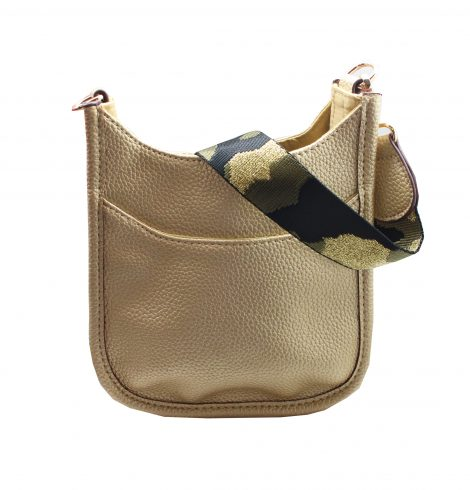 A photo of the Mini Messenger Bag In Gold product