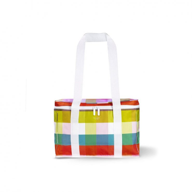 A photo of the Kate Spade Rainbow Plaid Cooler product