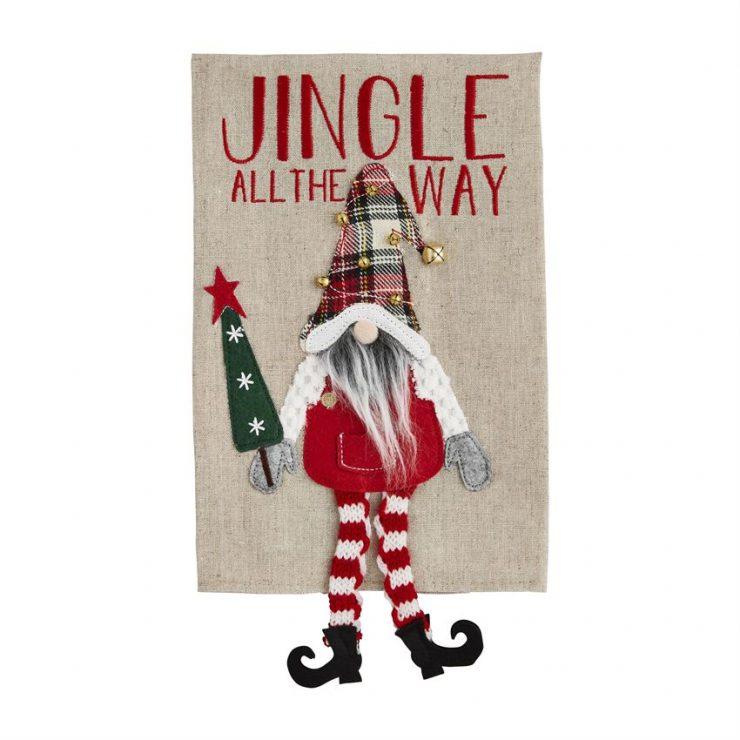 A photo of the Jingle Dangle Gnome Towel product