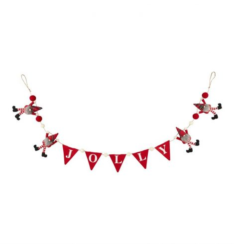 A photo of the Jolly Dangle Gnome Garland product