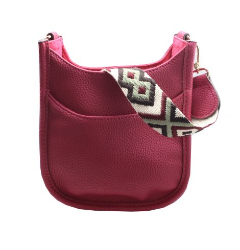 A photo of the Mini Messenger Bag In Burgundy product