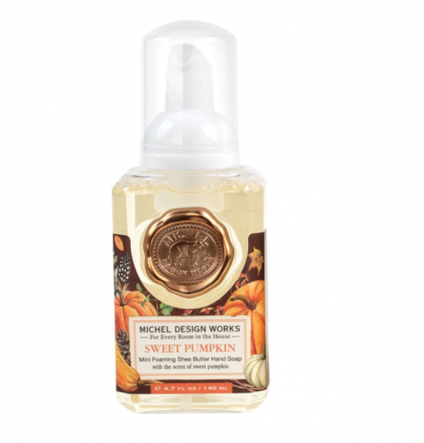 A photo of the Mini Foaming Hand Soap In Sweet Pumpkin product
