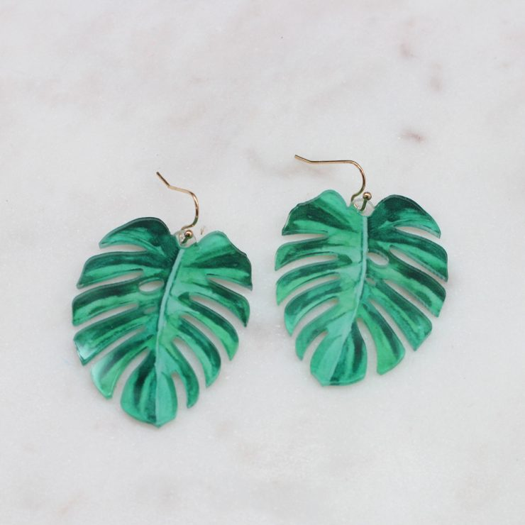 A photo of the Pretty Palm Earrings product