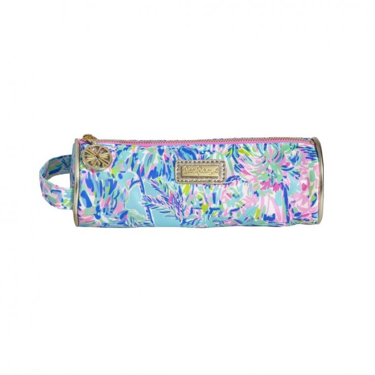 A photo of the Lilly Pulitzer Pencil Pouch In Cabana Cocktail product