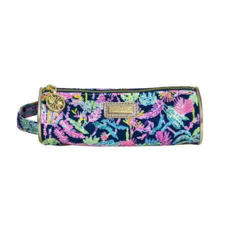 A photo of the Lilly Pulitzer Pencil Pouch In Seen and Herd product
