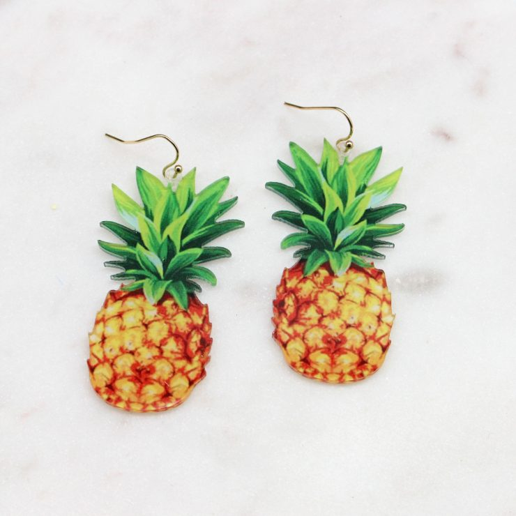 A photo of the Sweet Pineapple Earrings product