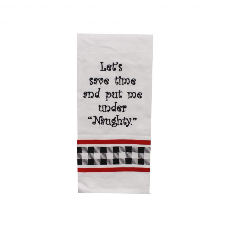 A photo of the Naughty Kitchen Towel product