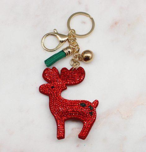 A photo of the Rhinestone Reindeer Keychain product