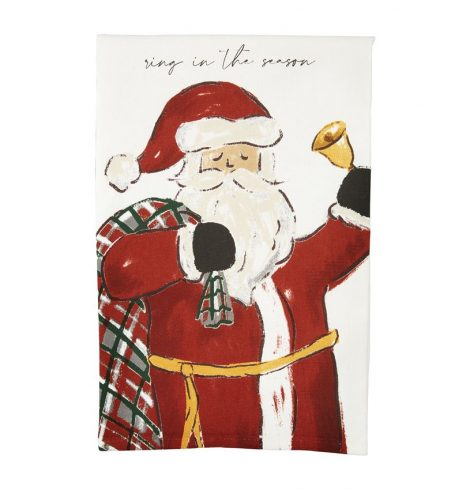 A photo of the Ring In The Season Santa Towel product