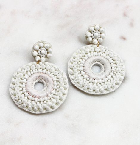A photo of the Round About Beaded Earrings product