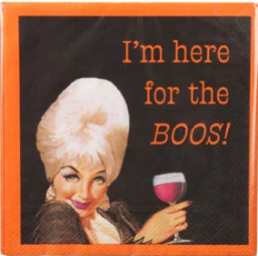 A photo of the I'm Here For The BOOS Napkins product