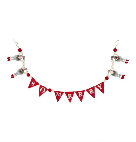 A photo of the So Merry Dangle Gnome Garland product