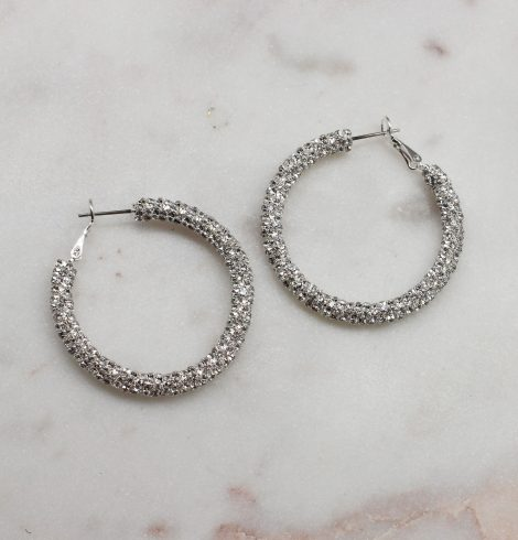 A photo of the Stunner Rhinestone Hoops product