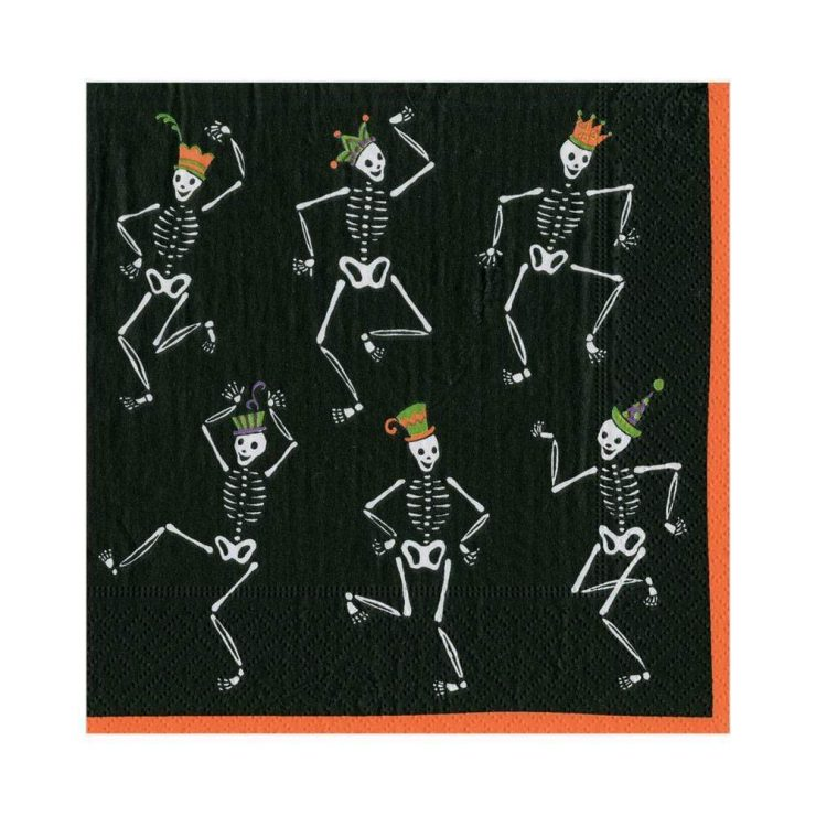 A photo of the Dancing Skeletons Luncheon Napkins product