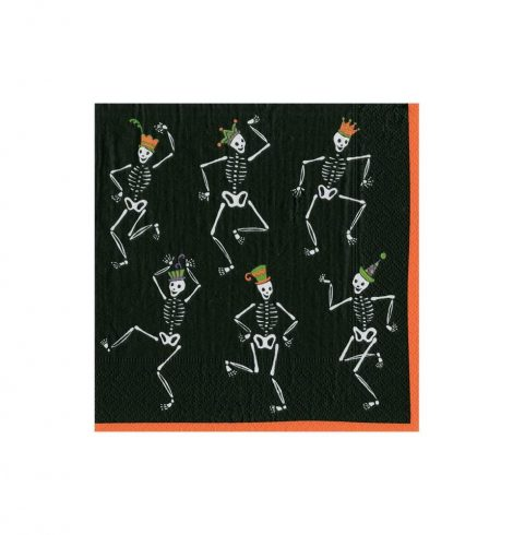 A photo of the Dancing Skeletons Cocktail Napkins product