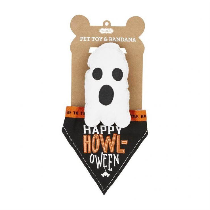 A photo of the Pet Toy & Bandana Set – Ghost product