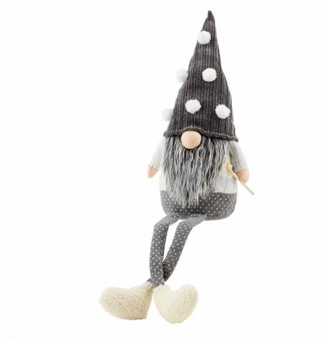 A photo of the Gray Pom Pom Dangle Leg Gnome product