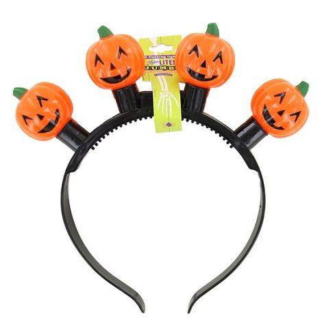 A photo of the Jack-O-Lantern Flashing Lights Headband product