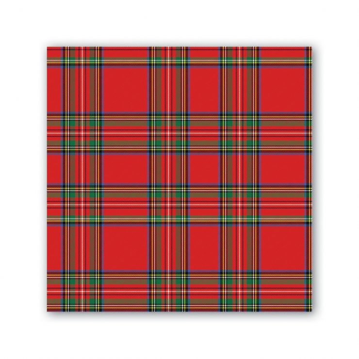 A photo of the Tartan Cocktail Napkins product