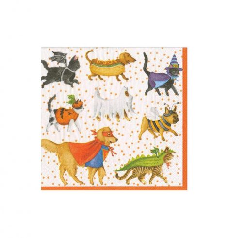 A photo of the Pets In Costume Cocktail Napkins product
