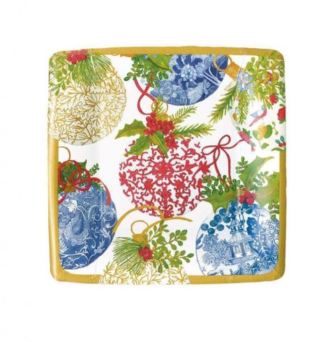 A photo of the Porcelain Ornaments Square Paper Salad/Dessert Plates product