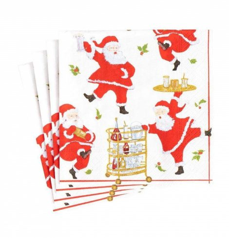 A photo of the Cocktails With Santa Cocktail Napkins product