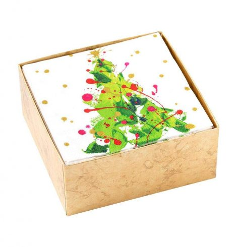 A photo of the Splatter Tree Boxed Cocktail Napkins product